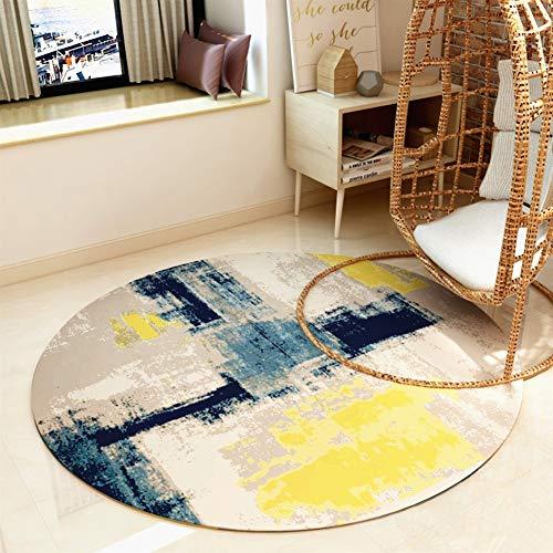 Vloerkleed, rond, anti-slip, yogamat, Nordic stijl, abstract, woonkamer, tafel, laag, stoelkussen, 6 kleuren, 4 maten QFLY 160cm diameter C