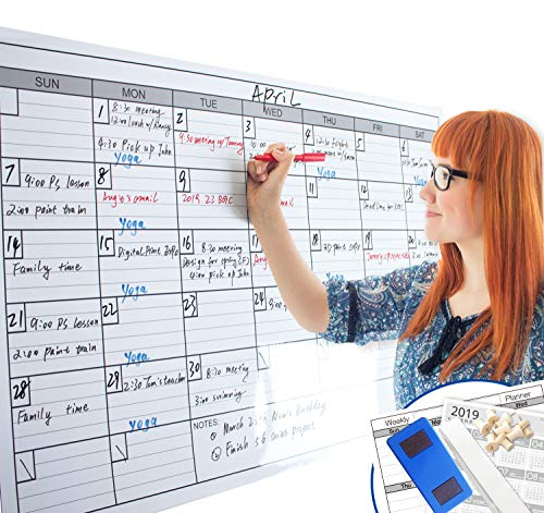 Dry Erase Whiteboard Calendar