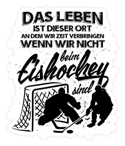 shirt-o-magic Aufkleber Eishockey: Das Leben. - Sticker - 20x20cm - Weiß