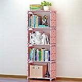 Estante de livros prática de várias camadas Armazenamento de móveis de escritório inclinados para a sala de estar(Cereja da sorte)
