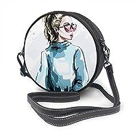 Sac à bandoulière en cuir synthétique avec fermeture éclair. Dimensions : 7,1 x 7,1 x 2,36 cm (L x l x H) ; il peut transporter vos essentiels quotidiens tels que téléphone, clés, chargeur, miroir, etc. Sac bandoulière pour femme à l'intérieur : ferm...