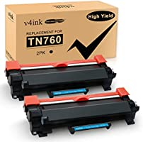 V4INK (with IC CHIP) New Compatible Brother TN730 TN760 TN-760 Black Toner Cartridge for Brother HL-L2350DW HL-L2390DW...
