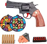 Zhiqu-NB Classic Revolver Soft Bullet Toy Gun, Revolver Cowboy Soft Bullet Gun -EVA Esponja Bullet Boy Versus Toy Gun -1: 1 Tamaño Marco de aleación Disparo de Largo Alcance Soft Bullet Gun