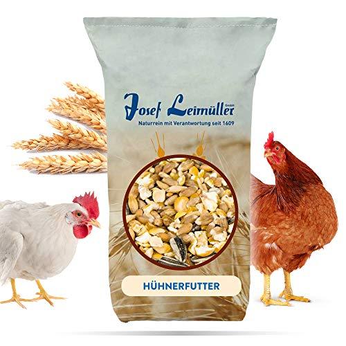 Leimüller Hühnerfutter | Körnerfutter für Hühner GVO - Gentechnik frei | 6-Korn Geflügelfutter mehrfach gereinigt und staubfrei