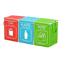 3 Compartment Trash Cans