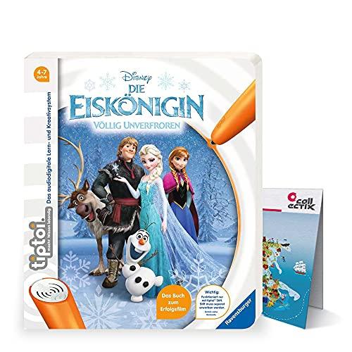 tiptoi Ravensburger Buch Die Eiskönigin - Völlig unverfroren Frozen ELSA + Kinder Wimmel-Weltkarte | Kinderlieder 4-7 Jahre
