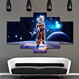 QJXX 5 Panels Leinwand Gemälde Dragon Ball Malerei HD