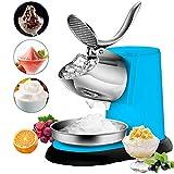 Wgwioo - Trituradora de hielo eléctrica, 300 W 1400R / Min A doble hoja de afeitadora, cono de nieve, fabricante para el helado DIY, bebidas frías y cócteles