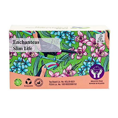 Enchanteas Slim Life Slimming Ayurvedic Tea for Weight Loss | Improves Metabolism| Improves Digestion|Box of 20 Teabags
