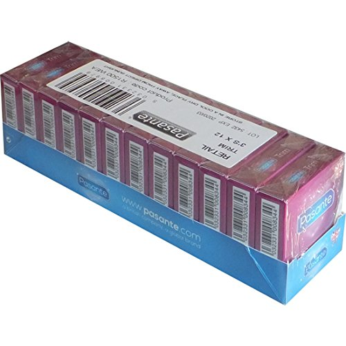 Pasante Kondome Extra Klein (36er Packung, Pasante Trim) extra schmale Condome Breite 49 mm S XS mit schlanker Passform, sicheres Gefühl