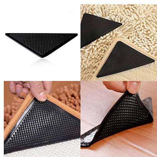PiniceCore 4Pcs / Set Wiederverwendbare waschbare Teppich Teppich Mat Greifer Nicht Beleg Silikon Grip Für Privatanwender Bad Wohn Küche Zimmer Pads Anti-Rutsch