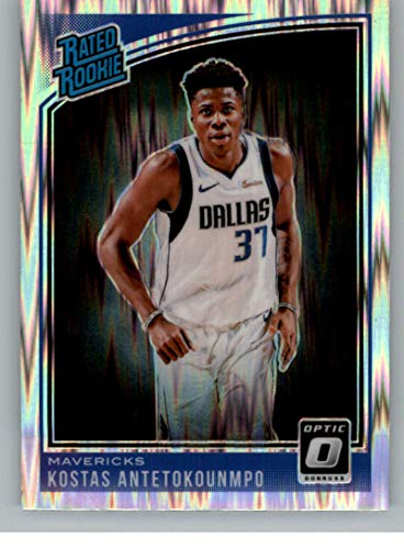 2018-19 Donruss Optic Shock Basketball #185 Kostas Antetokounmpo Dallas Mavericks Rated Rookie Official NBA Trading Card Produced By Panini