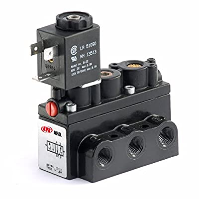 """ARO A212SS-120-A 4-Way 2-Position Solenoid Valve, 120V 1/4"""" NPT by Ingersoll Rand"""