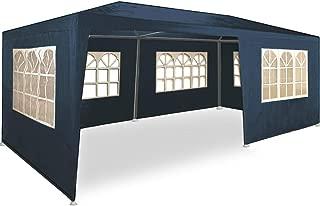 MAXX 6 x 3 m Gartenzelt Pavillon Bierzelt Partyzelt Festpavillon inklusive 6 Seitenwände, 4 x Fenster, 2 x Tür mit Reisverschluss, Wasserdicht PE Plane in Blau (6 x 3 m mit 6 Seitenwände, Blau)
