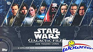 2018 Topps Star Wars Galactic Files MASSIVE Factory Sealed HOBBY Box with (2) HITS including AUTOGRAPH & 192 Cards! Look for Autos from Stars from across the Star Wars Galaxy! WOWZZER!