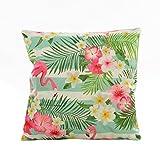 Kissenhülle,45 * 45cm Kopfkissenbezug Blumen Gras Muster Pillowcase Kissen Sofa Taille Wurf...