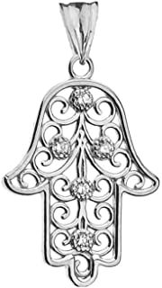 Best white gold hamsa necklace Reviews