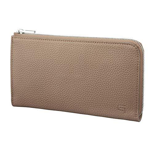 【GRAMAS】 L字ファスナーウォレット シュランケンカーフ レザー Smart Organizer Wallet 本革 プレゼント (トープ)