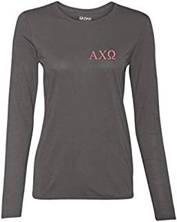 Apparel - Alpha Chi Omega Lyre Pearls and Alpha Chi Girls Long Sleeve Shirt