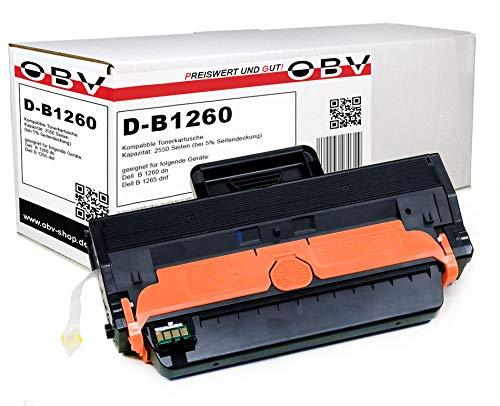 OBV kompatibler Toner als Ersatz fur Dell 593 11109 RWXN fur B1260 B1260dn B1265dnf 2500 Seiten schwarz