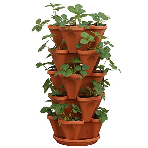 Mr. Stacky 5-Tier Strawberry Planter Pot (5 Pots Total) $37.56