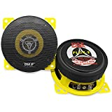 "Car Two Way Speaker System - Pro 4 Inch 140 Watt 4 Ohm Mid Tweeter Component Audio Sound Coaxial Speakers For Car Stereo w/ 20 Oz Magnet, 1.85"" Mount Depth Fits Standard OEM - Pyle PLG4.2 (Pair)"