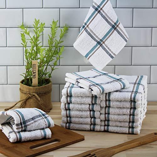 Mainstays, 4 Pack, Kitchen Dish Cloth Set, Multi-color Stripe