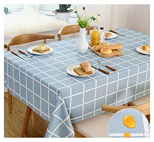 PVC Mantel rectangular,Mantel Antimanchas,Impermeable Manteles, Prueba de Aceite Manteles para Bodas Fiesta Buffet Navidad Cumpleaños Restauranteccccccccccccccccc(Size:110x160cm,Color:Azul)