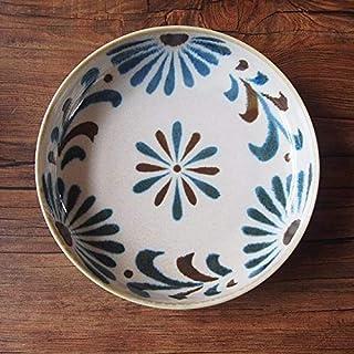 晴れた日が似合う器やちむん風のお皿で南国の風を食卓に お皿 やちむん風 チャンプルー皿 琉球てぃーだ ゴーヤチャンプルー 切立皿 沖縄 南国 かりゆし 和食器 オシャレ 賑やか おしゃれ プレート 安い 食器 鉢 美濃焼