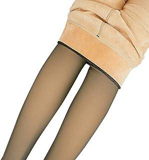 BlackSwan BlackSwan Beine Gefälschte durchscheinende warme Fleece-Strumpfhose Slim Stretchy für den Winter Gray Step Foot