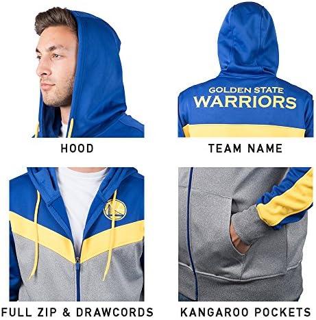 Ultra Game NBA Men's Soft Fleece Full Zip Jacket Hoodie