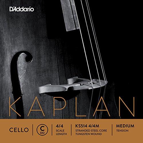 D'Addario KS514-4/4M Kaplan Cello Einzelsaite 'C' Wolfram umsponnen 4/4 Medium
