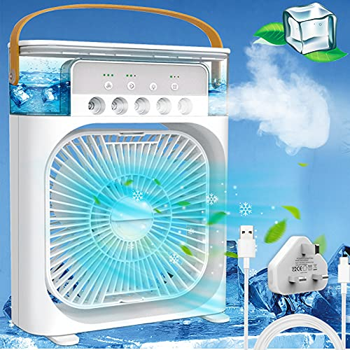 Portable Air Cooler,Personal Air Conditioner Fan Mini Quiet Evaporative...