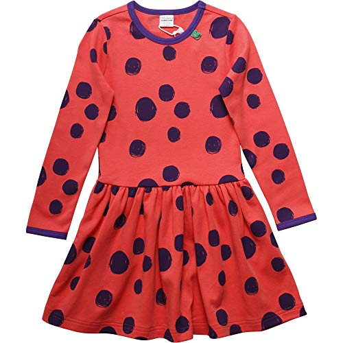 Fred'S World By Green Cotton Circus Dot Dress Robe, Orange (Warm Coral 018164901), 92 Bébé Fille