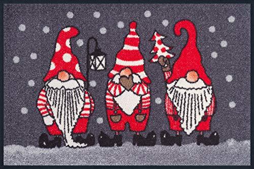Wash + Dry 057130 Fußmatte Weihnachtszwerge, 50 x 75 cm
