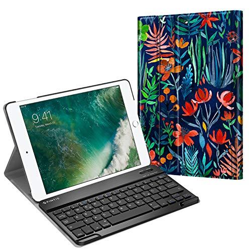 Fintie Tastatur Hülle für iPad 9.7 Zoll 2018 2017 / iPad Air 2 / iPad Air - Ultradünn leicht Schutzhülle Keyboard Case mit magnetisch Abnehmbarer drahtloser Deutscher Tastatur, Dschungelnacht