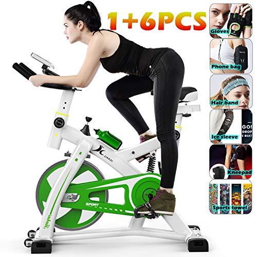 YYBF Bicicleta Estática De Spinning Profesional, Bicicleta Spinning Indoor, Ajustable Resistencia, Pulsometro,...