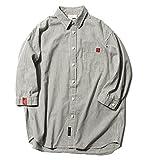 (ハバー)Habor シャツ メンズ 七分袖 ワイシャツ ストライプ 開襟 トップス カジュアルシャツ 綿