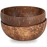 EPT-Home Kokosschale Kokos Schale Bowl Dekoschale Deko Holzschale Fair Trade (2 Stück)