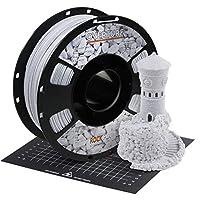 OVERTURE PLA フィラメント 3Dプリンター用素材 3D印刷 3Dプリンター フィラメント 1.75mm 1kgスプール 高い寸法精度 高密度 環境保護 ビルドサーフェス付き ほとんどのFDMプリンターに適合 (ロック ホワイト)