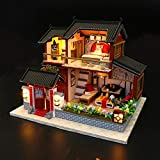 Miniatur DIY Puppenhaus,Diy Mini House Xiang Ruige Puzzle Gebäudemodell Montieren Haus Puppenhaus...