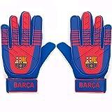 FC Barcelona - Guantes de Portero Oficiales - para niños - Barça - Azul - Adolescentes: 10-16 años