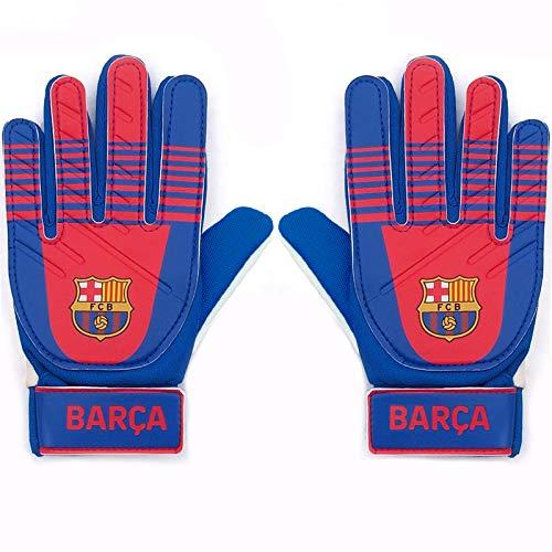 FC Barcelona - Torwarthandschuhe für Kinder/Jugendliche - Offizielles Merchandise - Geschenk für Fußballfans - Blau BARÇA - Jungen: 5-10 Jahre