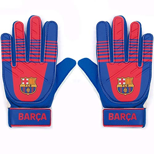 FC Barcelona Official Football Gift Boys BARCA Goalkeeper Goalie Gloves