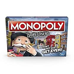 LOSE TO WIN: Oh, the thrill of revenge! With this hilarious edition of the Monopoly board game, the annoying things like paying rent or going to Jail actually help players get ahead COLLECT COINS: The Monopoly For Sore Losers game will have players a...