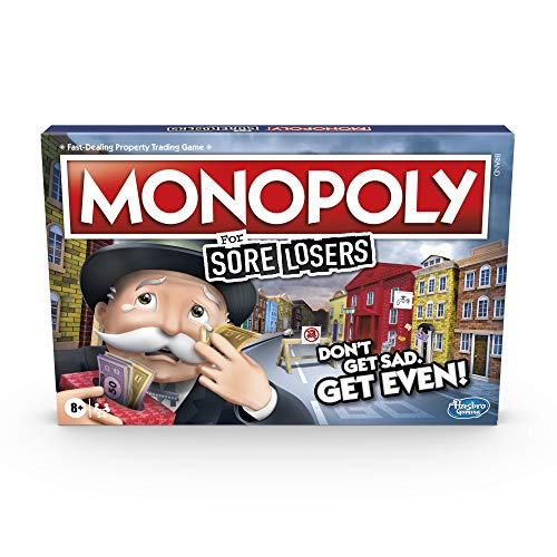 Monopoly for Sore Losers Board Game for Ages 8 and up, the Game Where it...