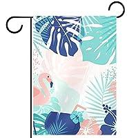 庭の装飾の屋外の印の庭の旗の飾り熱帯フラミンゴ テラスの鉢植えのデッキのため