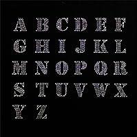 【アルファベット】 ラインストーンモチーフ 【P】 (クリスタル) アイロン接着可 Tシャツのポイントにピッタリ 小さめサイズ ご希望の文字を色選択よりお選びください