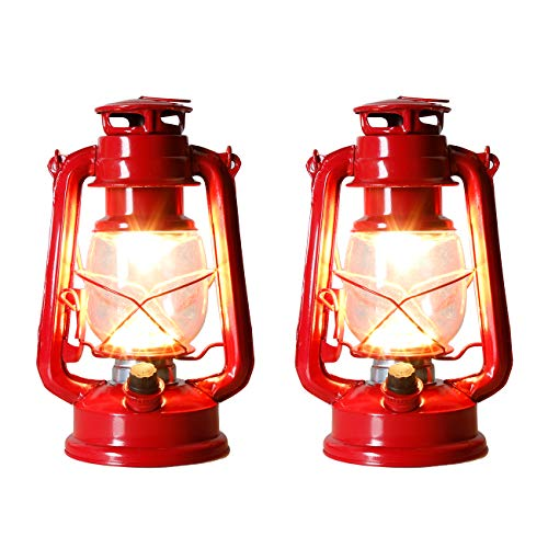 Set of 2-EAMBRITE 9.5 Inch LED Outdoor Traditional Look Lantern with efficient LED Lighting