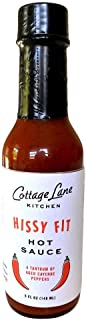 Hissy Fit Aged Cayenne Pepper Gourmet Hot Sauce, Flavor and Heat, Use on Chicken Wings and More, 5 oz.